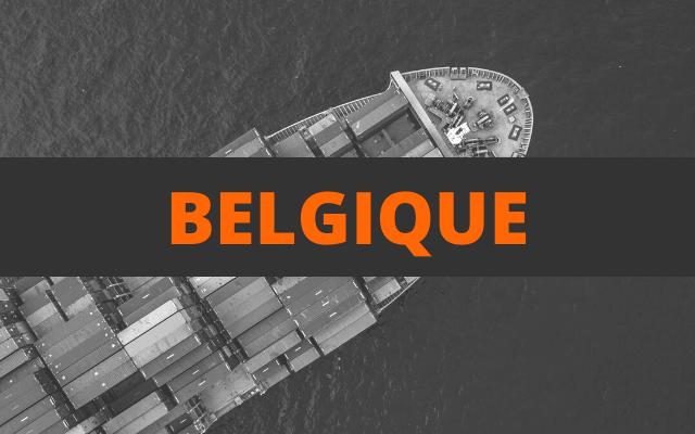 envoi container belgique